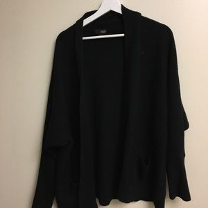 ANA jcpenney black cozy cardigan